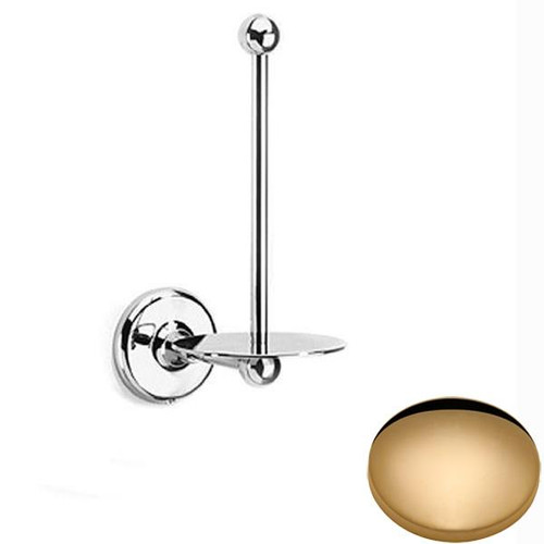 Non-Lacquered Brass Samuel Heath Novis Spare Toilet Roll Holder N1031