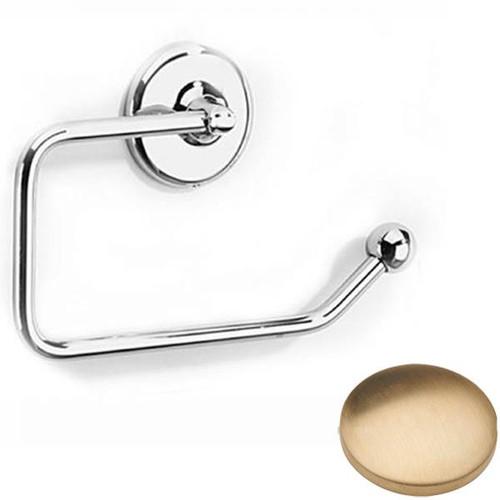 Brushed Gold Unlacquered Samuel Heath Novis Toilet Paper Holder N1037