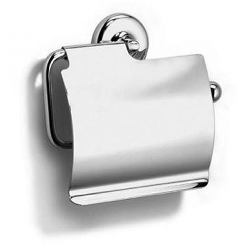 Chrome Plated Samuel Heath Novis Toilet Roll Holder With Cover N1037-C