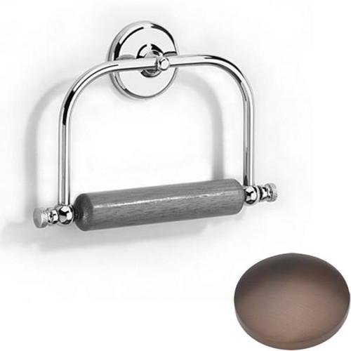 City Bronze Samuel Heath Novis Toilet Roll Holder With Wooden Roller N1020