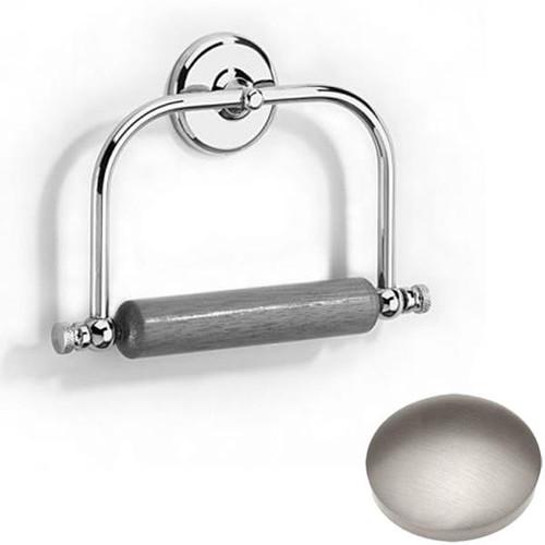 Stainless Steel Finish Samuel Heath Novis Toilet Roll Holder With Wooden Roller N1020