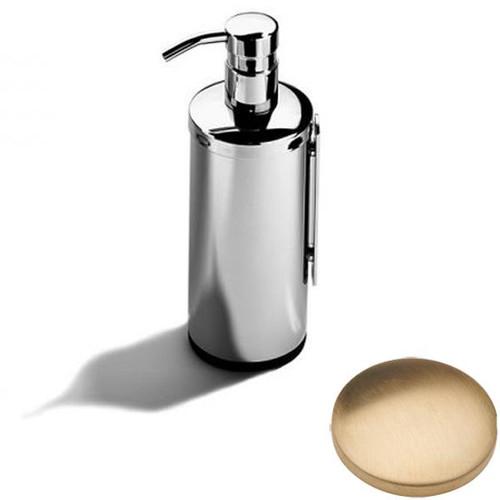 Brushed Gold Unlacquered Samuel Heath Novis Wall Mounted Soap Dispenser L303
