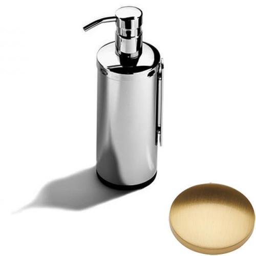 Brushed Gold Gloss Samuel Heath Novis Wall Mounted Soap Dispenser L303