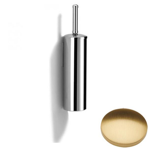 Brushed Gold Gloss Samuel Heath Novis Wall Mounted Toilet Brush L42
