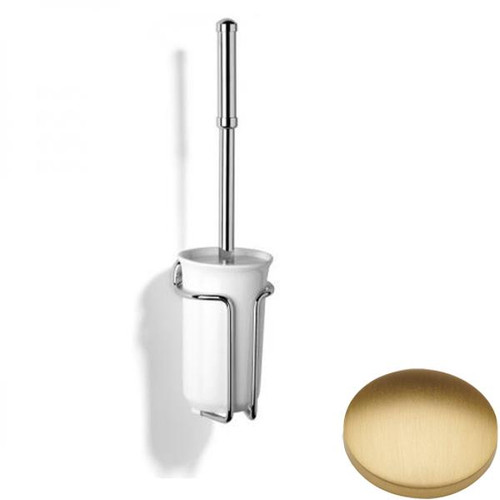 Brushed Gold Matt Samuel Heath Novis Wall Mounted Toilet Brush N1049