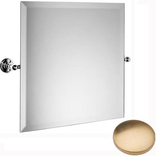Brushed Gold Unlacquered Samuel Heath Novis Square Tilting Mirror L1143