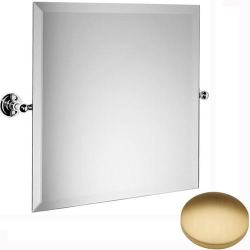 Brushed Gold Matt Samuel Heath Novis Square Tilting Mirror L1143