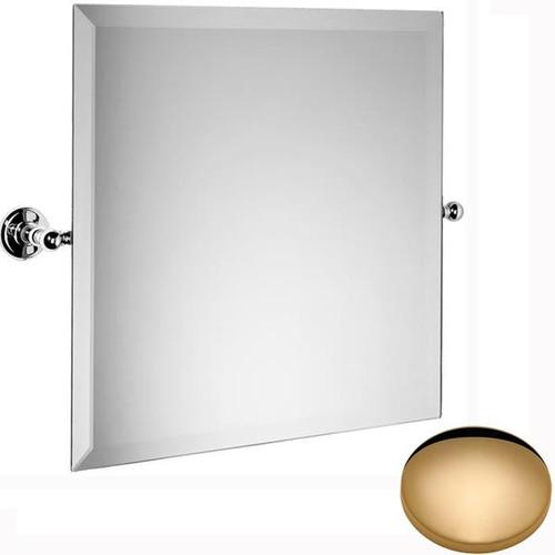 Non-Lacquered Brass Samuel Heath Novis Square Tilting Mirror L1143