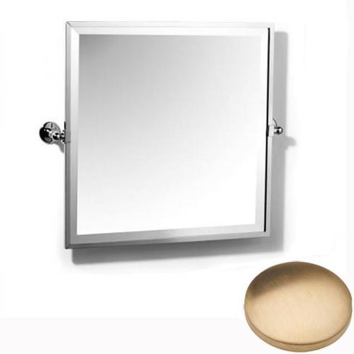 Brushed Gold Unlacquered Samuel Heath Novis Framed Bevelled Tilting Mirror L1149