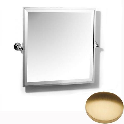 Brushed Gold Gloss Samuel Heath Novis Framed Bevelled Tilting Mirror L1149