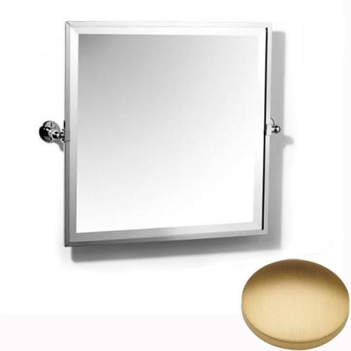 Brushed Gold Matt Samuel Heath Novis Framed Bevelled Tilting Mirror L1149
