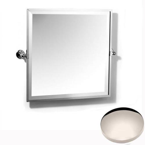 Polished Nickel Samuel Heath Novis Framed Bevelled Tilting Mirror L1149