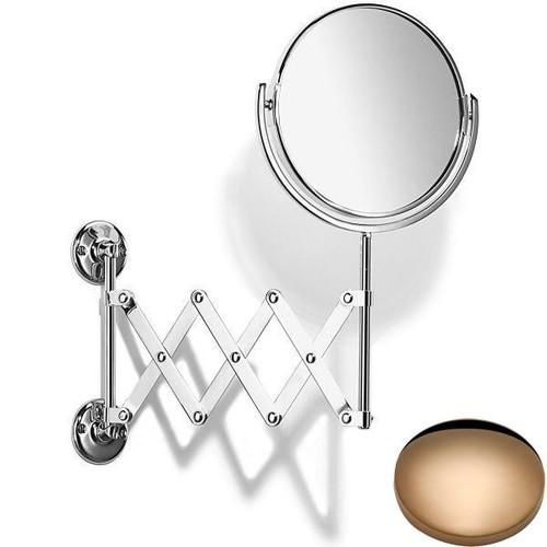 Antique Gold Samuel Heath Curzon Extending Mirror Plain / Magnifying L110