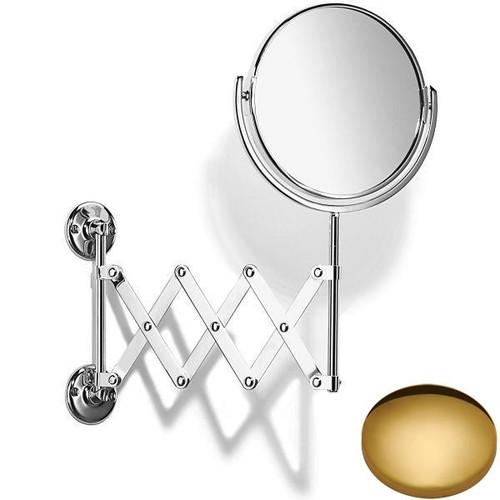 Polished Brass Samuel Heath Curzon Extending Mirror Plain / Magnifying L110