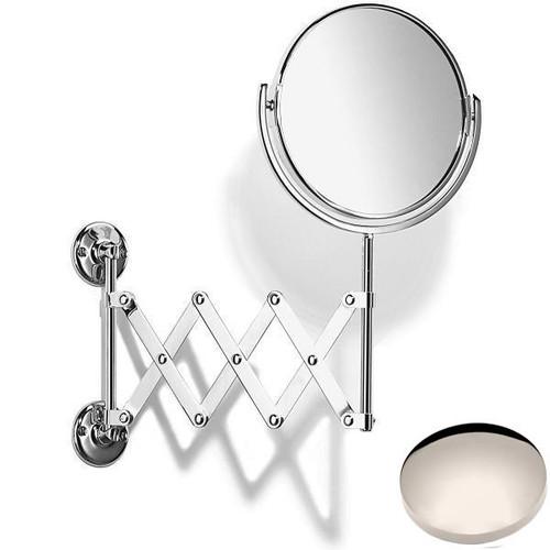 Polished Nickel Samuel Heath Curzon Extending Mirror Plain / Magnifying L110