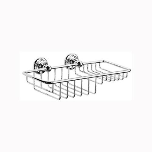 Chrome Plated Samuel Heath Curzon Soap & Sponge Basket N26-W