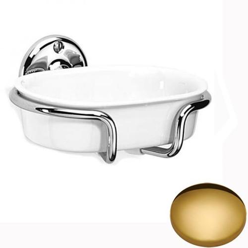 Polished Brass Samuel Heath Curzon Soap Holder N34
