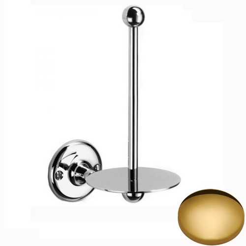 Polished Brass Samuel Heath Curzon Spare Toilet Roll Holder N31