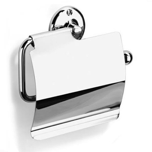 Chrome Plated Samuel Heath Curzon Toilet Roll Holder With Cover N37-C