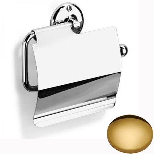 Polished Brass Samuel Heath Curzon Toilet Roll Holder With Cover N37-C