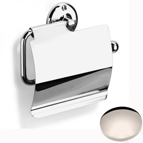 Polished Nickel Samuel Heath Curzon Toilet Roll Holder With Cover N37-C