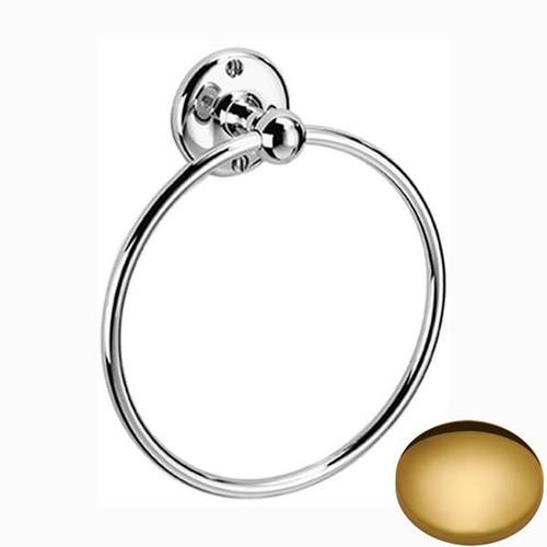 Polished Brass Samuel Heath Curzon Towel Ring N98-6