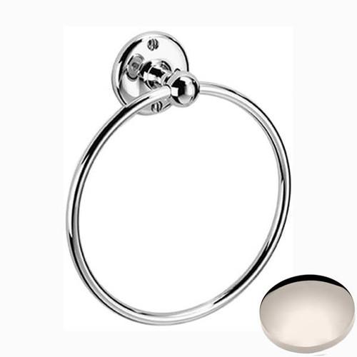 Polished Nickel Samuel Heath Curzon Towel Ring N98-6
