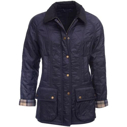 Navy Barbour Womens Beadnell Polarquilt Jacket