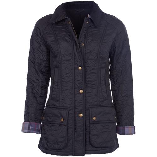 Black Barbour Womens Beadnell Polarquilt Jacket
