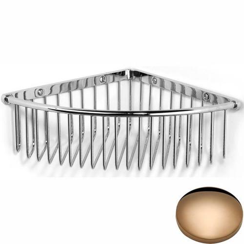 Antique Gold Samuel Heath Deep Corner Shower Basket N151