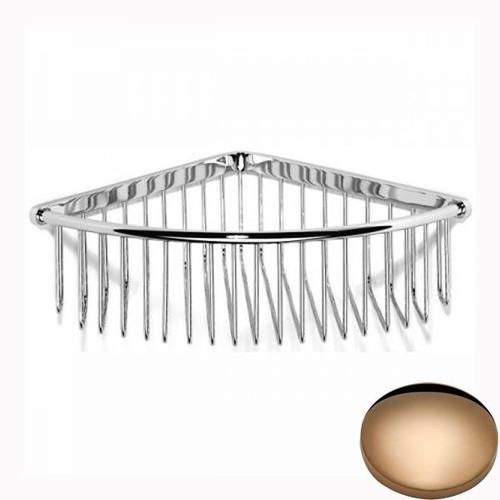 Antique Gold Samuel Heath Corner Shower Basket N158