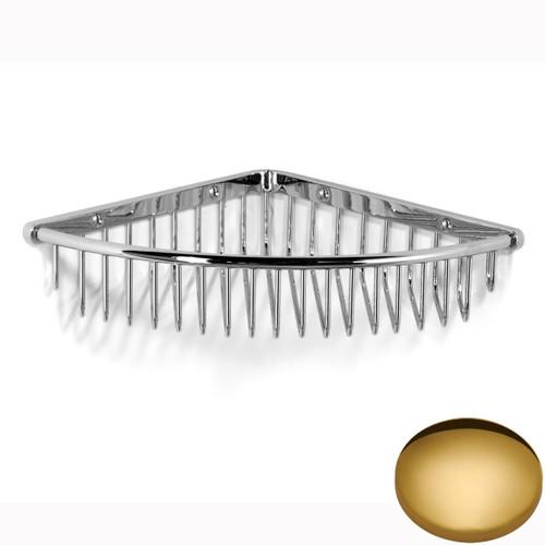 Polished Brass Samuel Heath Corner Shower Basket N36