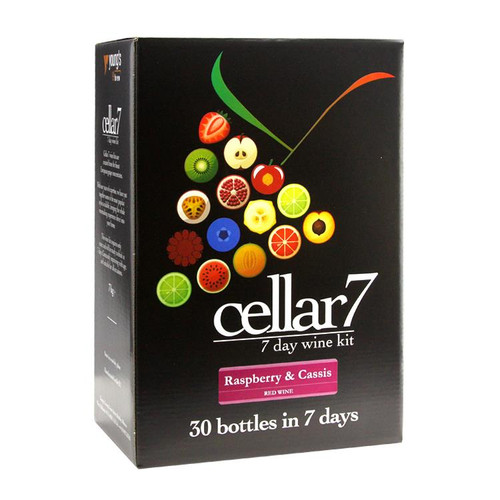 Youngs Cellar 7 Fruit Raspberry & Cassis 30 Bottle Kit