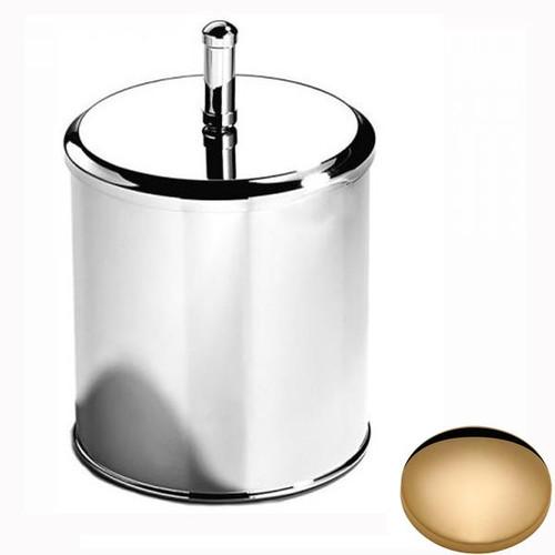 Non-Lacquered Brass Samuel Heath Bathroom Bin With Lid L12