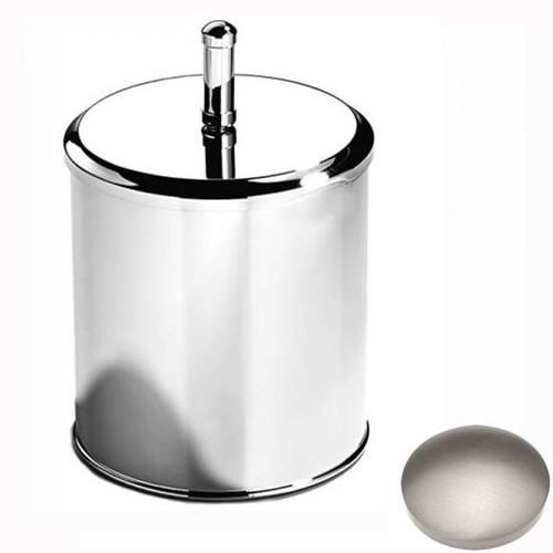 Stainless Steel Finish Samuel Heath Bathroom Bin With Lid L12