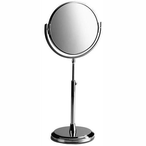 Chrome Plated Samuel Heath Freestanding Height Adjustable Plain / X5 Magnifying Mirror L107