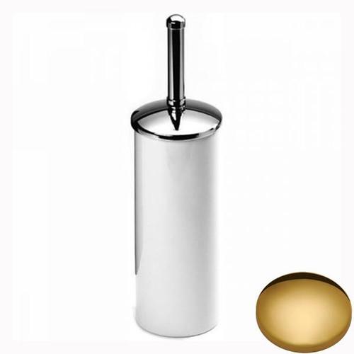 Polished Brass Samuel Heath Freestanding Toilet Brush L49