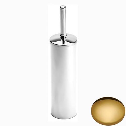 Polished Brass Samuel Heath Freestanding Toilet Brush L44