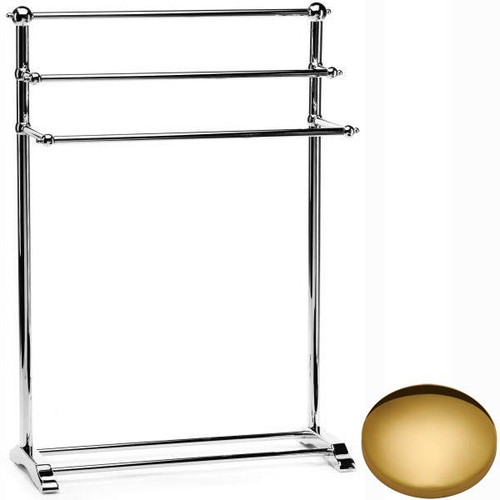 Polished Brass Samuel Heath Freestanding Towel Stand L908