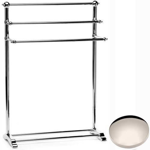 Polished Nickel Samuel Heath Freestanding Towel Stand L908