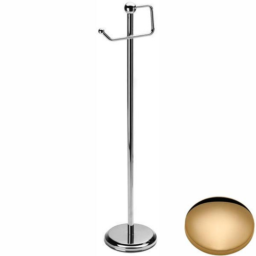 Non-Lacquered Brass Samuel Heath Freestanding Toilet Roll Holder L228