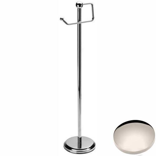 Polished Nickel Samuel Heath Freestanding Toilet Roll Holder L228