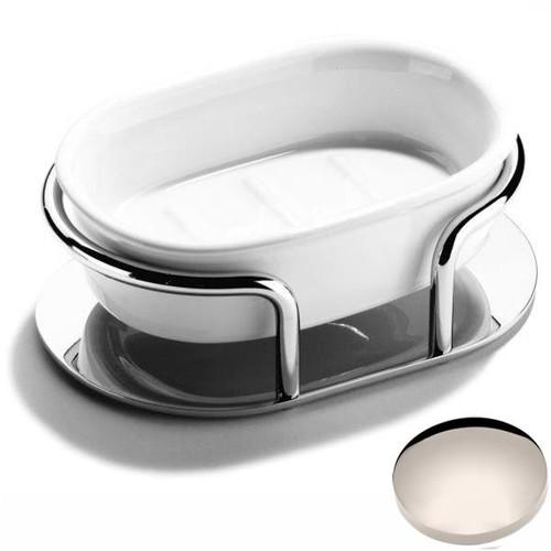 Polished Nickel Samuel Heath Freestanding Soap Holder L64