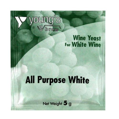 Youngs 5g All Purpose White Wine Yeast Sachet