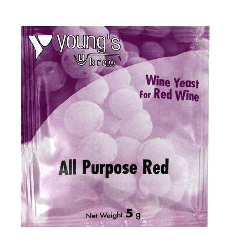 Youngs 5g All Purpose Red Wine Yeast Sachet
