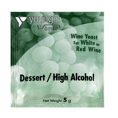 Youngs 5g High Alcohol / Dessert Wine Yeast Sachet