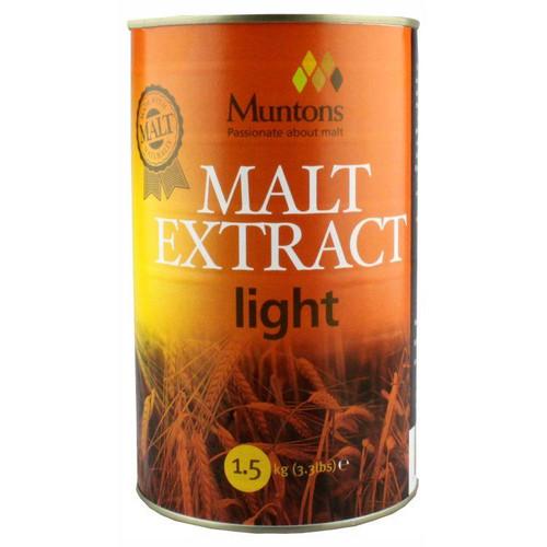 Youngs 1.5kg Muntons Light Plain Malt Extract
