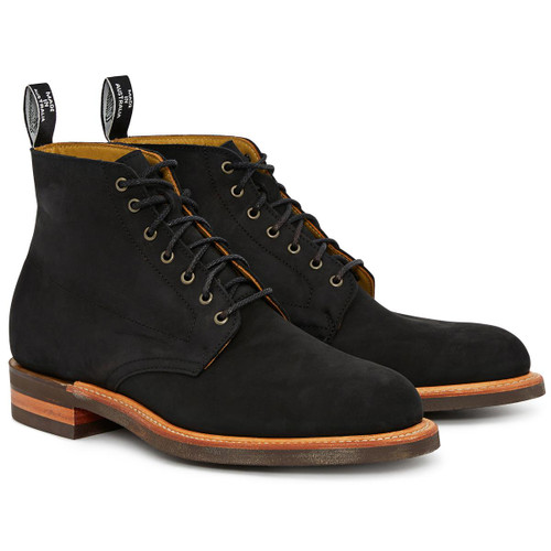 Black R.M. Williams Mens Rickaby Lace Boots