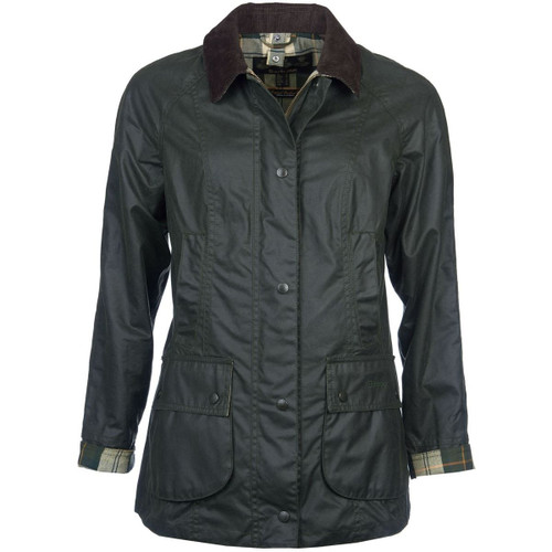 Sage Barbour Womens Beadnell Wax Jacket