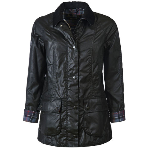 Black Barbour Womens Beadnell Wax Jacket